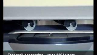 Pitney Bowes DM475 franking machine demonstration video