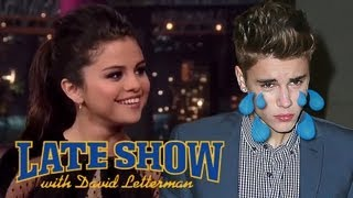 "Selena Gomez Made Justin Bieber Cry - ""David Letterman Show"""