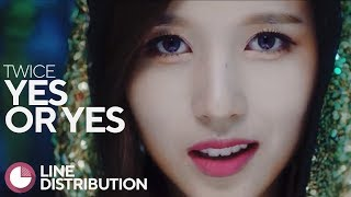 • TWICE • YES or YES • Line Distribution • 트와이스 •