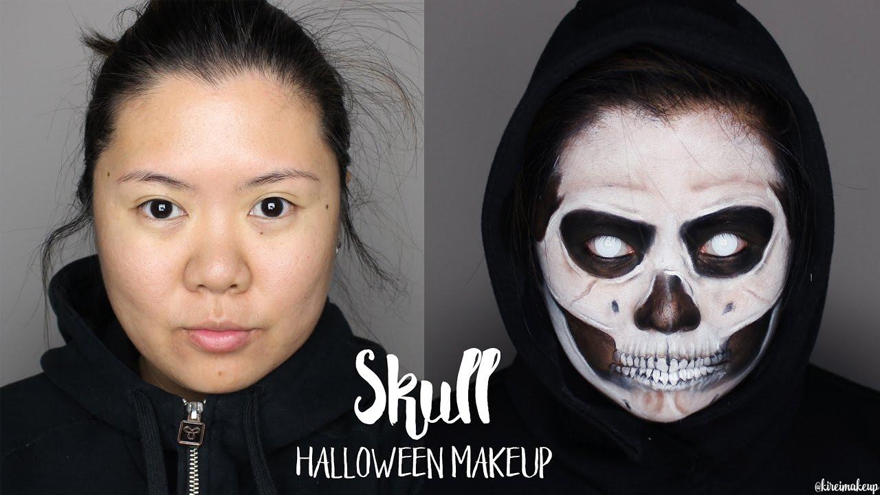 Skull Makeup Grim Reaper Makeup Halloween 2016 Kirei Makeup Youtube