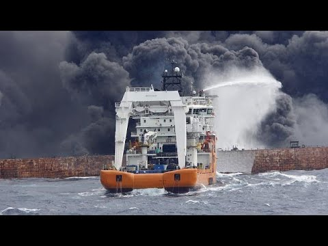 O Irão diz que não há sobreviventes do incêndio no petroleiro Sanchi