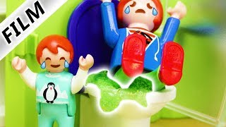 Playmobil Film Deutsch JULIAN AUF KLO FESTGEKLEBT! FIESER PLAN VON PAPA? Familie Vogel