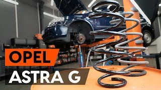 How to change Suspension spring on OPEL ASTRA G Hatchback (F48_, F08_) - online free video