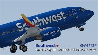 [P3D] Southwest Airlines departure from Phoenix Sky Harbour and landing in Denver (60FPS)