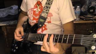 Rudimentary Peni - Zero Again (guitar cover)