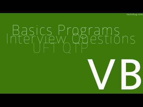 100 Visual Basic (VB) Interview Questions And Answers