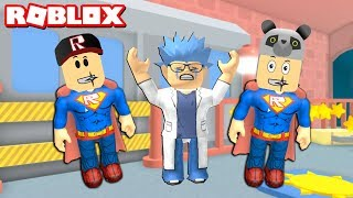 Can Superheroes Stop the Bad Doctor? - Roblox Super Hero Adventure Obby with Panda!