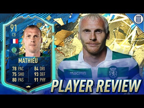 91 TEAM OF THE SEASON SO FAR MATHIEU PLAYER REVIEW! TOTSSF JEREMY MATHIEU - FIFA 20 ULTIMATE TEAM