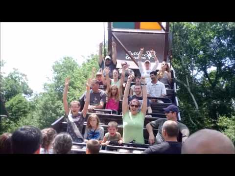 Busch Gardens: Battering Ram on ride POV / June 21, 2014