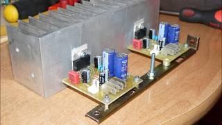 TDA7294 stiprintuvas  / TDA7294 amplifier 1/2