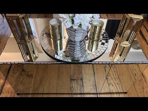 "Home Decor DIY || 20""x40""Mirrored Coffee Table"