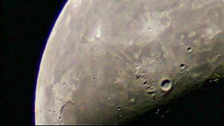 [천체망원경]하현달 30배율~180배율 관측영상