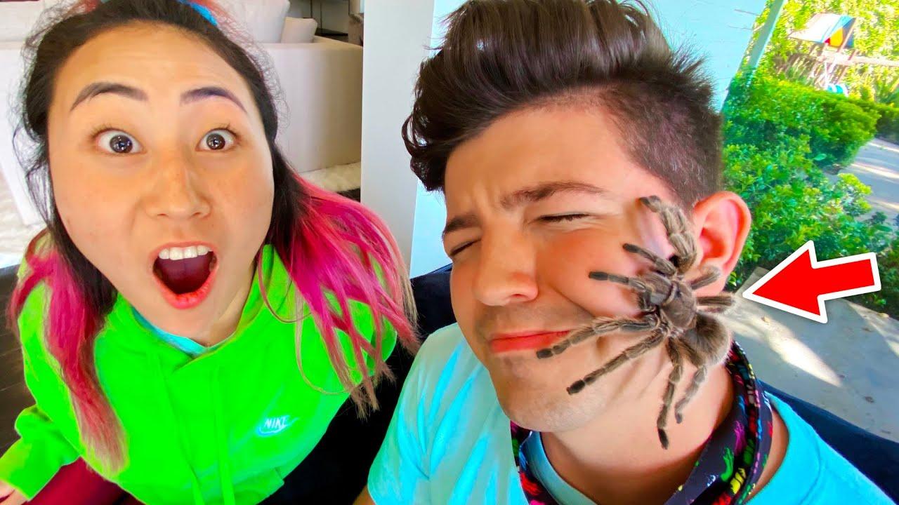 HUGE SPIDER PRANK ON PRESTON!!