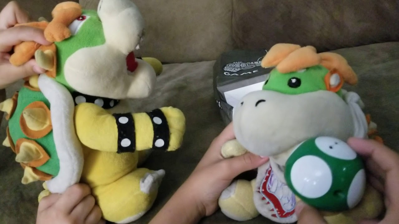 Mario Plush Mini Episode Bowser Jr and Bowser eat a mushroom