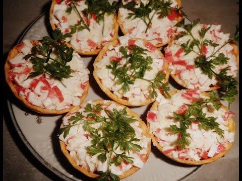 Закуска из крабовых палочек пошаговый рецепт с фото на