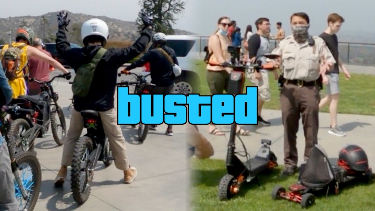COPS CRACK DOWN ON GROUP RIDE!!! | LAESK8 | PEV GROUP RIDE | LOS ANGELES