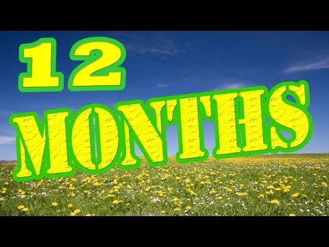 Months of the Year Song  12 Months of the Year  Kids Songs  The Learning Station
