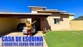 Um encanto o modelo dessa casa de esquina toda decorada do piso porcelanato lindo R$415.000