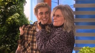 Diane Keaton Has Fangirl Freak-Out Over Justin Bieber On Ellen