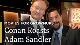 Conan O'Brien Roasts Adam Sandler | AARP The Magazine's Movies for Grownups® | Great Performances