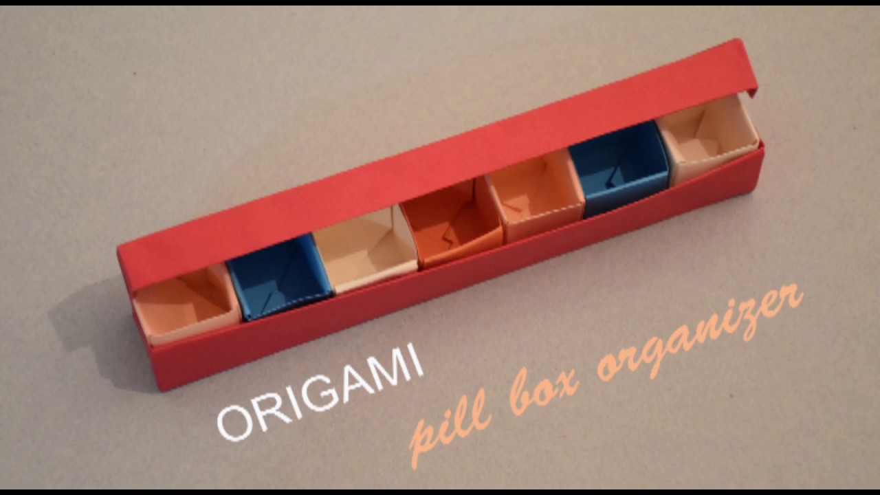 Origami i pill box organizer i how to make a pill box for How to draw a pill