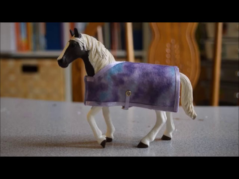 Schleich Diy How To Make A Schleich Horse Blanket Youtube