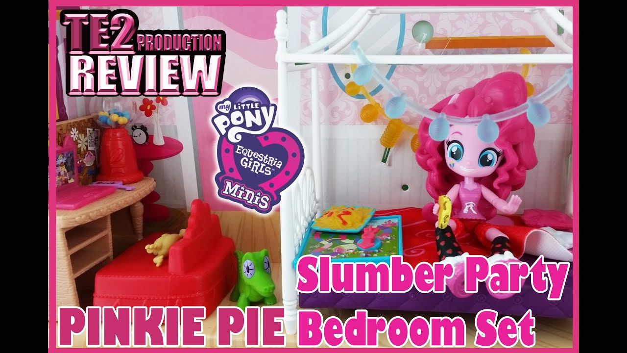 Review My Little Pony Equestria Girls Minis PINKIE PIE Slumber Party Bedroom  Set