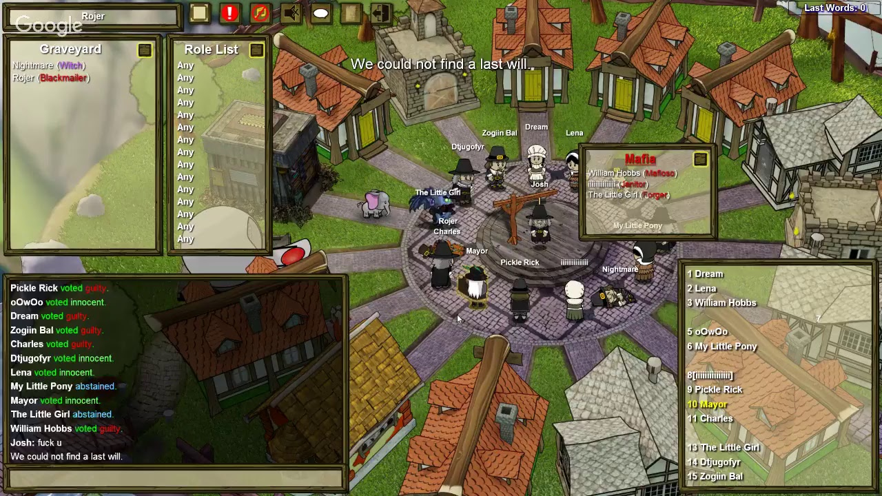 town of salem stream w blue wizard gaming youtube