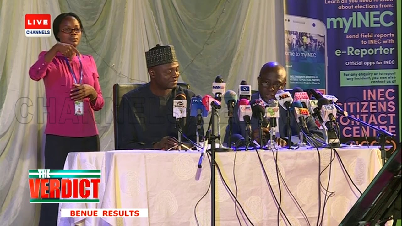 2019 Presidential Election: INEC Announces Benue Results
