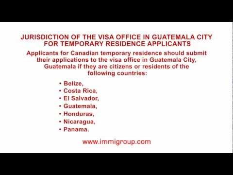 Jurisdiction of the visa office in Guatemala City for temporary residence applicants