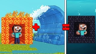 Minecraft | TSUNAMI VS LAVA BASE CHALLENGE! (Lava or Tsunami)