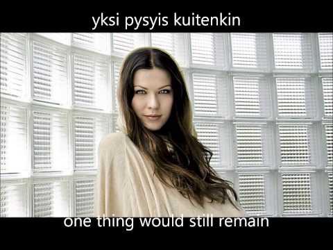 Jenni Vartiainen - Minä sinua vaan (sanat/lyrics: suomi/English) - YouTube