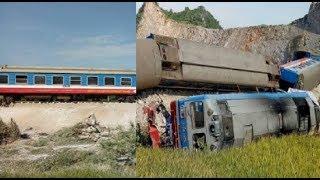 Thông tin mới nhất về vụ tàu hỏa lật  tại Thanh Hóa