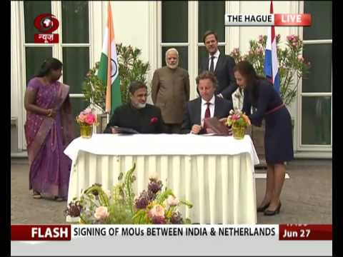 Signing of MoUs between India and Netherlands