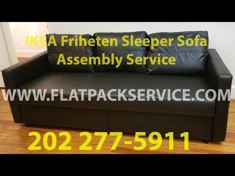 IKEA Friheten Sleeper Sofa bed assembly service in Washington DC MD & VA 202 277-5911
