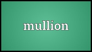 Mullion Meaning