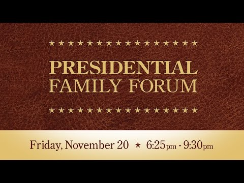 Presidential Family Forum 2015