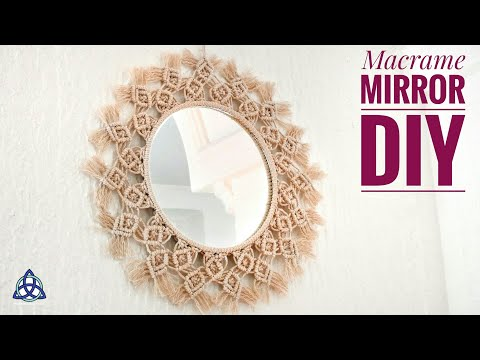Macrame Mirror Wall Hanging New Design - Handmade DIY