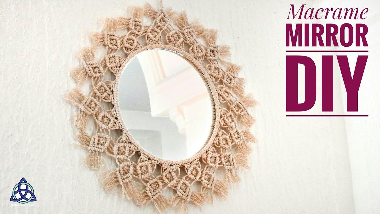 Macrame Mirror Wall Hanging New Design Handmade Diy Youtube