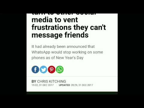 Whatsapp Crashed on New Year 2018
