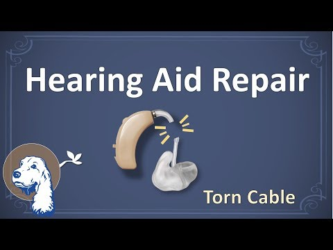 DIY hearing aid repair (torn cable)