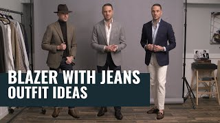 How To Wear A Blazer With Jeans | 5 Different Outfit Ideas | How To Style Blazers