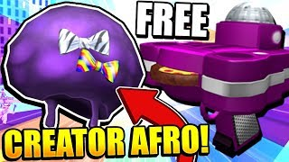 ROBLOX PIZZA PARTY EVENT! FREE EXCLUSIVE CREATOR PURPLE PARTY AFRO!!