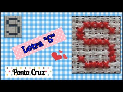 Letra S - alfabeto ponto cruz