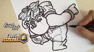 COMO DIBUJAR AL DUENDE GIGANTE | CLASH ROYALE | how to draw goblin giant