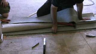 How to: Carpet to tile transition on a concrete floor