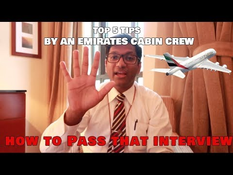 Emirates Cabin Crew: Top tips on how to pass the job interview