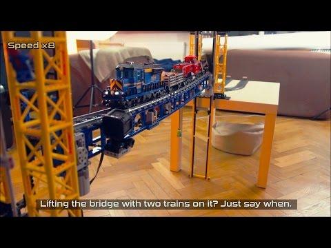 This Custom LEGO Railway Lift Bridge Really Raises the Bar