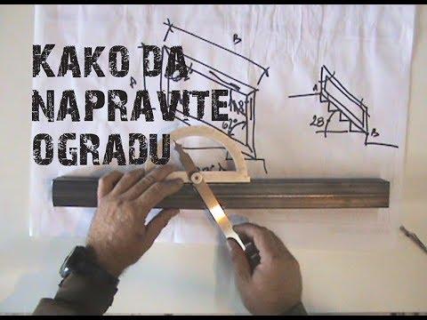 Kako Napraviti Ogradu Za Stepenište . Deo IV - Uglovi.
