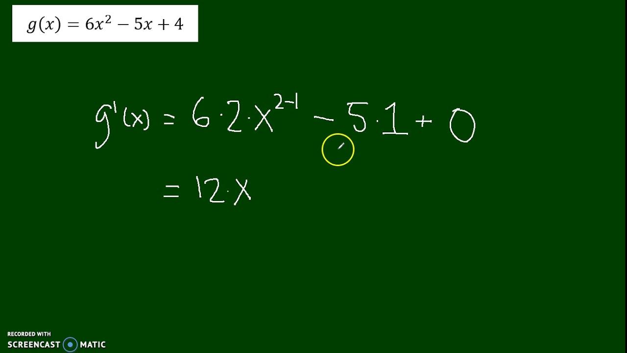 Differentiation af polynomier